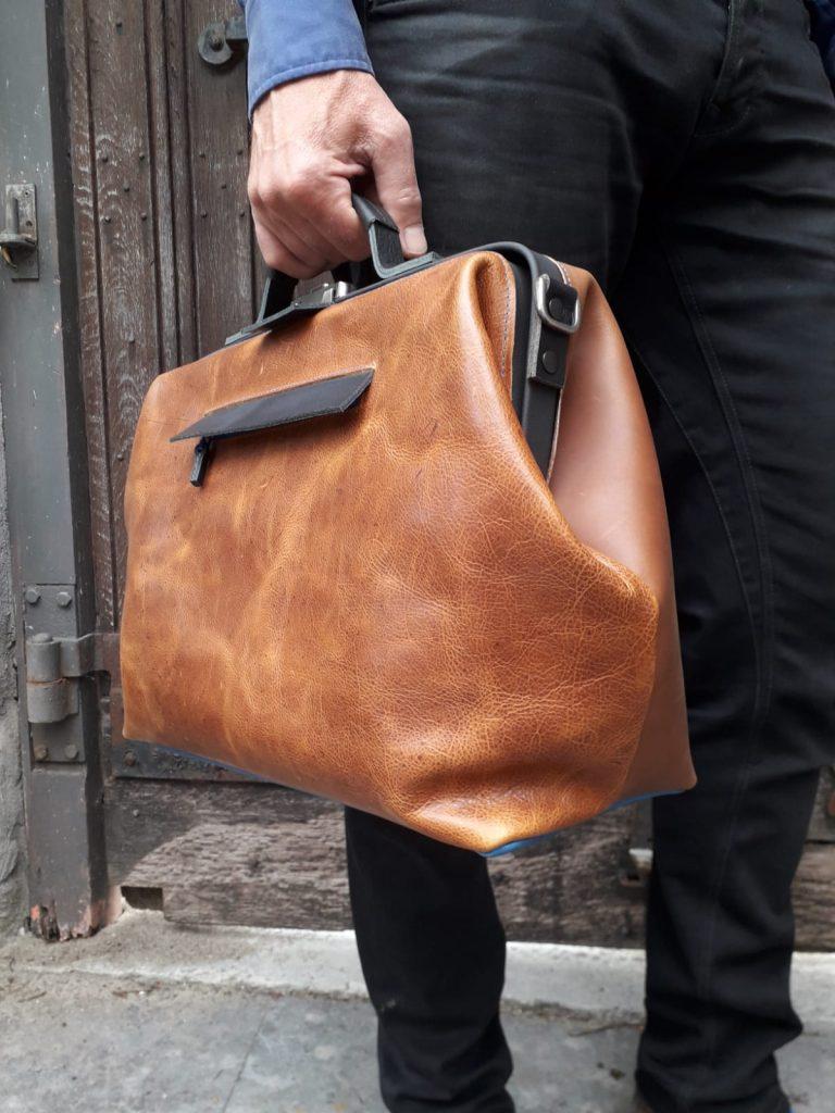laptop bag doctor's bag men brown