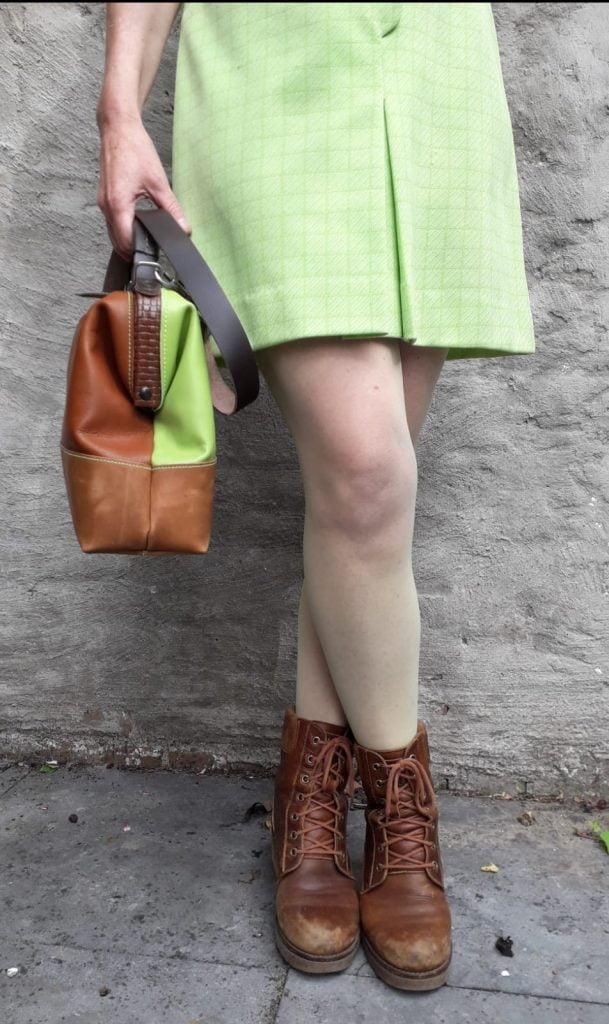 doctor's bag handbag brown green