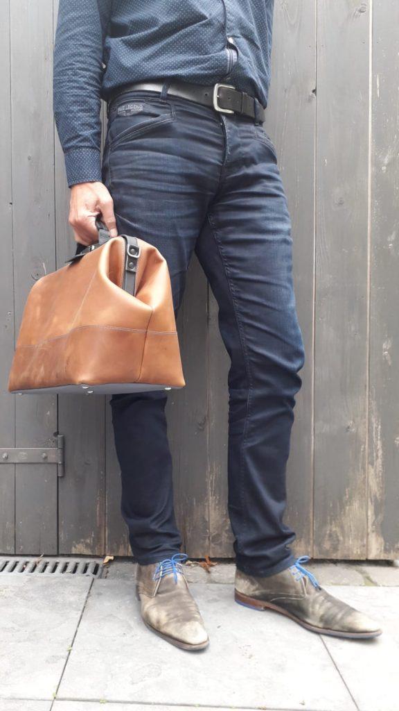 leather doctor's bag cognac brown