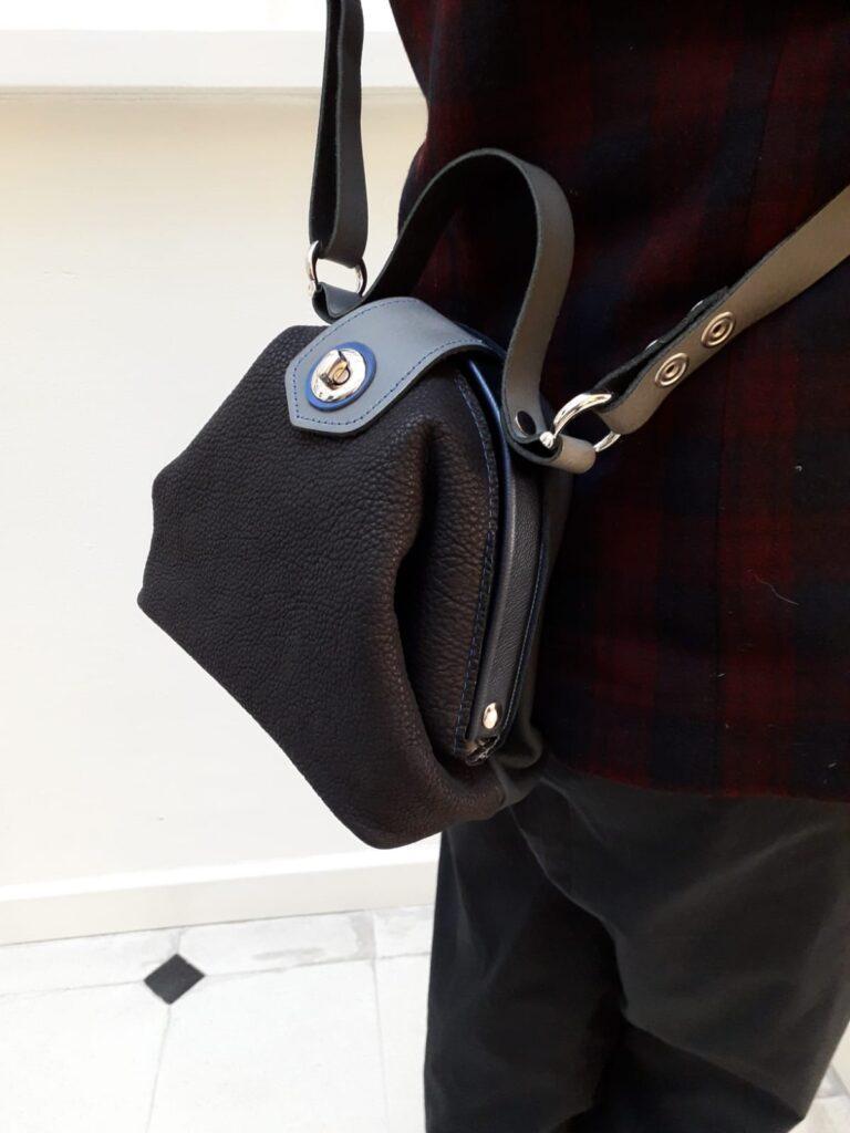 dokterstas handtas zwart blauw